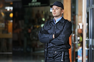 Security guard protecting office