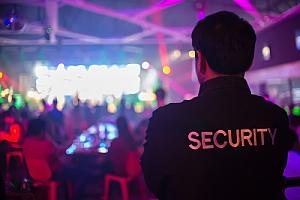 Security Guard in Indoor Concert