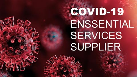 APG — COVID-19 essential services supplier logo
