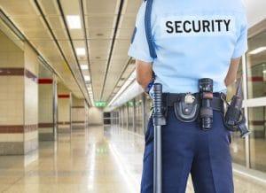 security guard in uniform