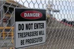 a construction company may face loss and liability responsibility to trespassers injured on site