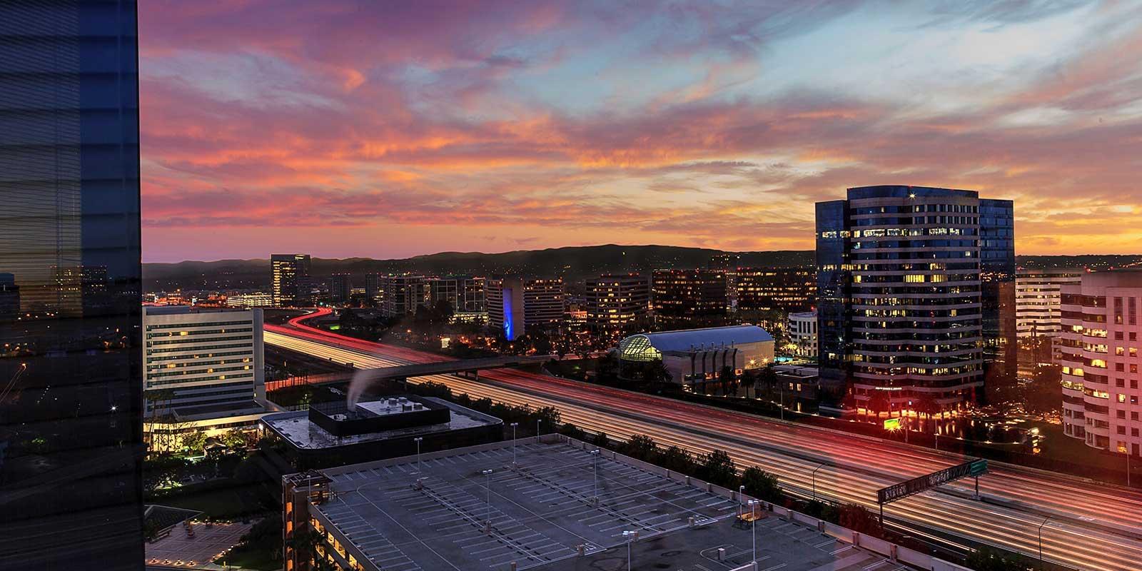 Irvine California city view