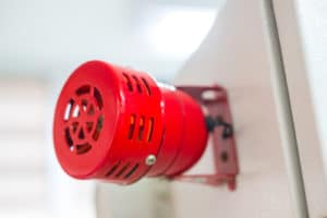 a red audible alarm a type of business alarm systems