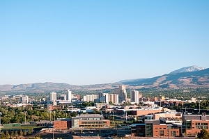 sky view of reno nevada where APG provides security service