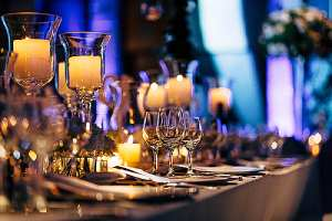A beautifully arranged table of an event. Hiring security for such event may cost beyond the budget