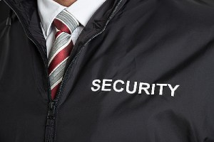 Close-up of event Security Guard