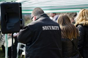Event security guard during an event