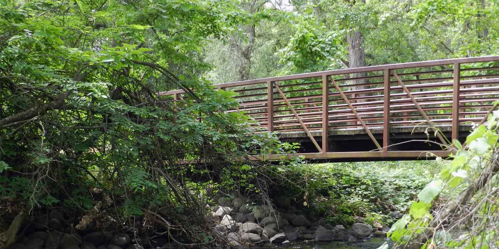 Bridge in Bidwell Park in Chico, CA