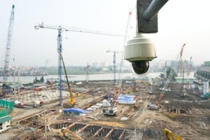 a Construction Site Security Cameras looking over site