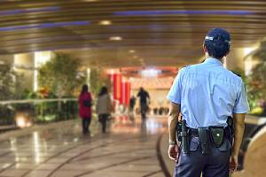 A hotel security officer