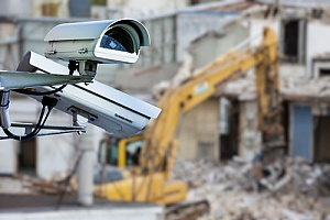 construction site security cameras at a construction area in Florida