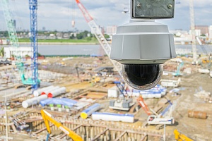 construction site security cameras being used to monitor a site