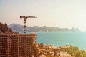 Hotel Construction on Sea Shore