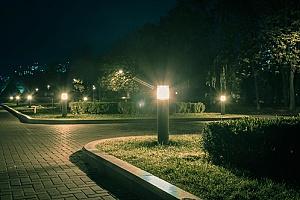 a security light in a neighborhood installed by an HOA security team
