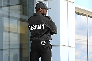 a security professional who is watching over a family to keep them safe