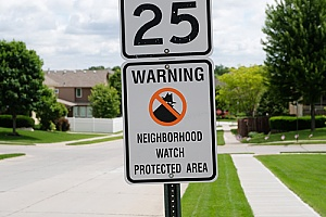 neighborhood watch sign in a homeowners association for added security