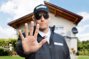security officer outside home