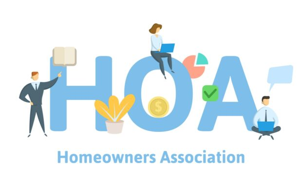 homeowner association concept with keywords