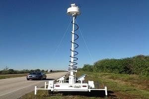 radar trailer system on the highway